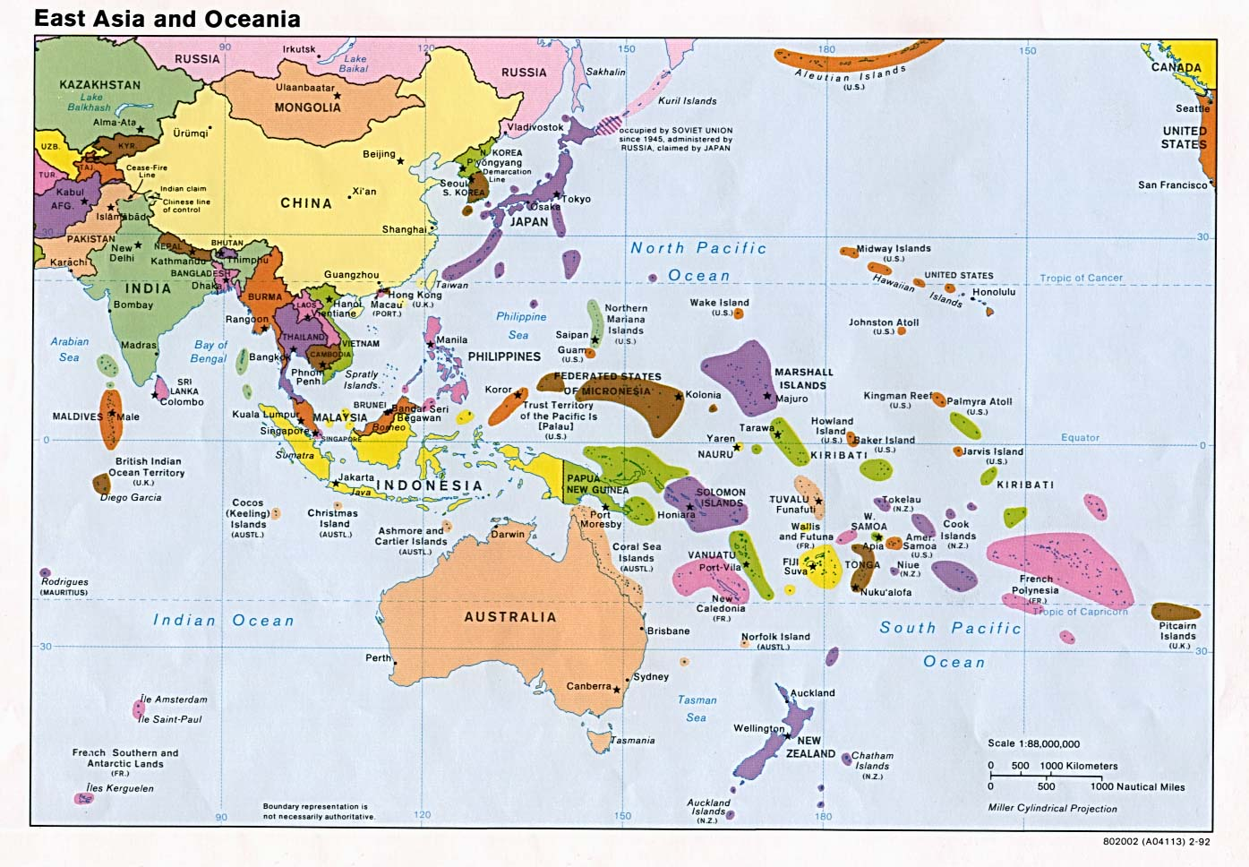 East-Asia-and-Oceania-Political-Map - Devpolicy Blog from the ...
