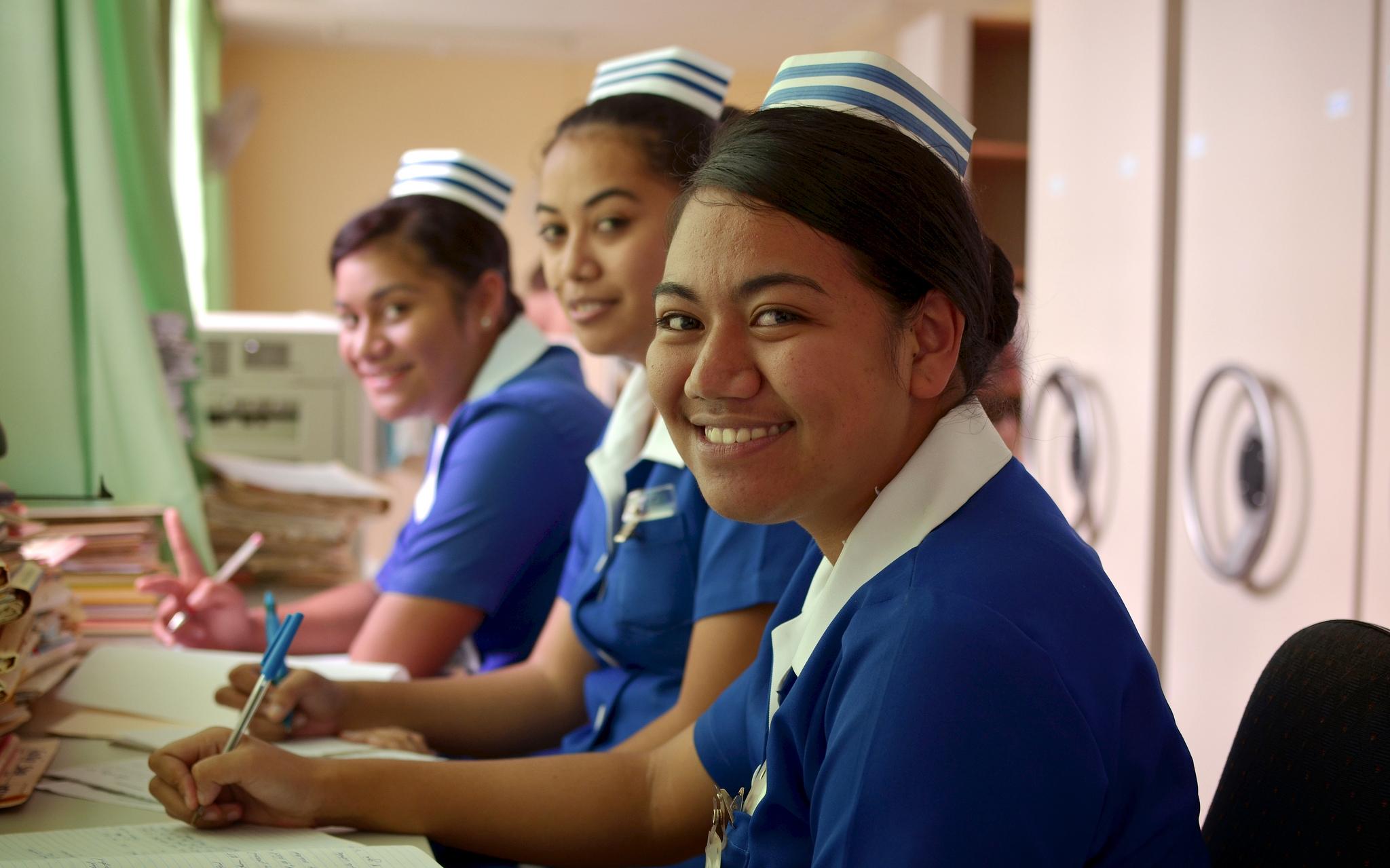 Nursing staff at Vaiola Hospital, Tonga (image: Flickr/World Bank, Tom Perry)