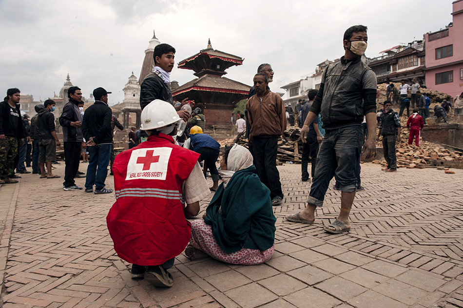 Local responders save countless lives, including in the Nepal earthquake earlier this year (image: Int'l Federation of Red Cross and Red Crescent Societies)