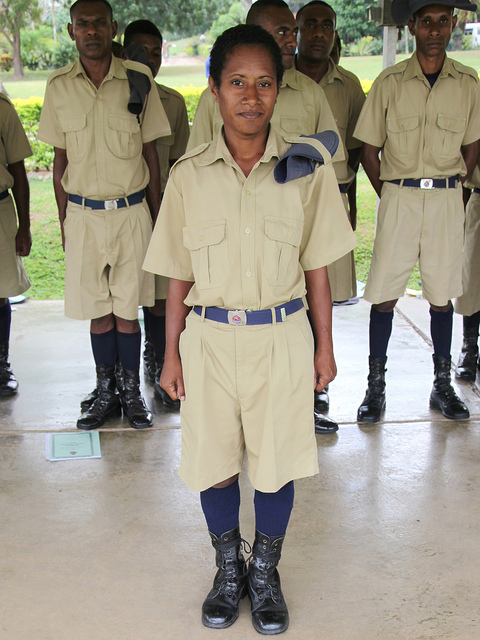 Female police recruit training, PNG (Flickr/DFAT/Michael Wightman)