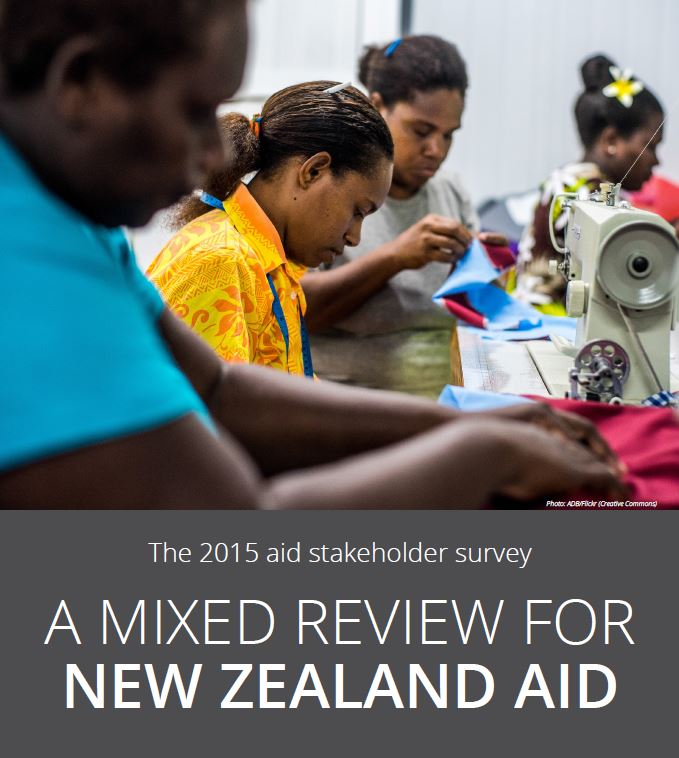 NZ aid stakeholder survey report cover