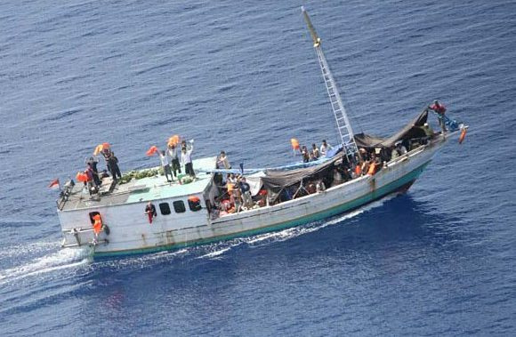 A boat heads towards Australia with its human cargo (Flickr/UNHCR Photo Unit CC BY-NC 2.0)
