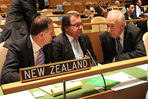 John Key, Murray McCully and Jim McClay at the UN (Flickr/NZ National Party CC BY-NC-ND 2.0)