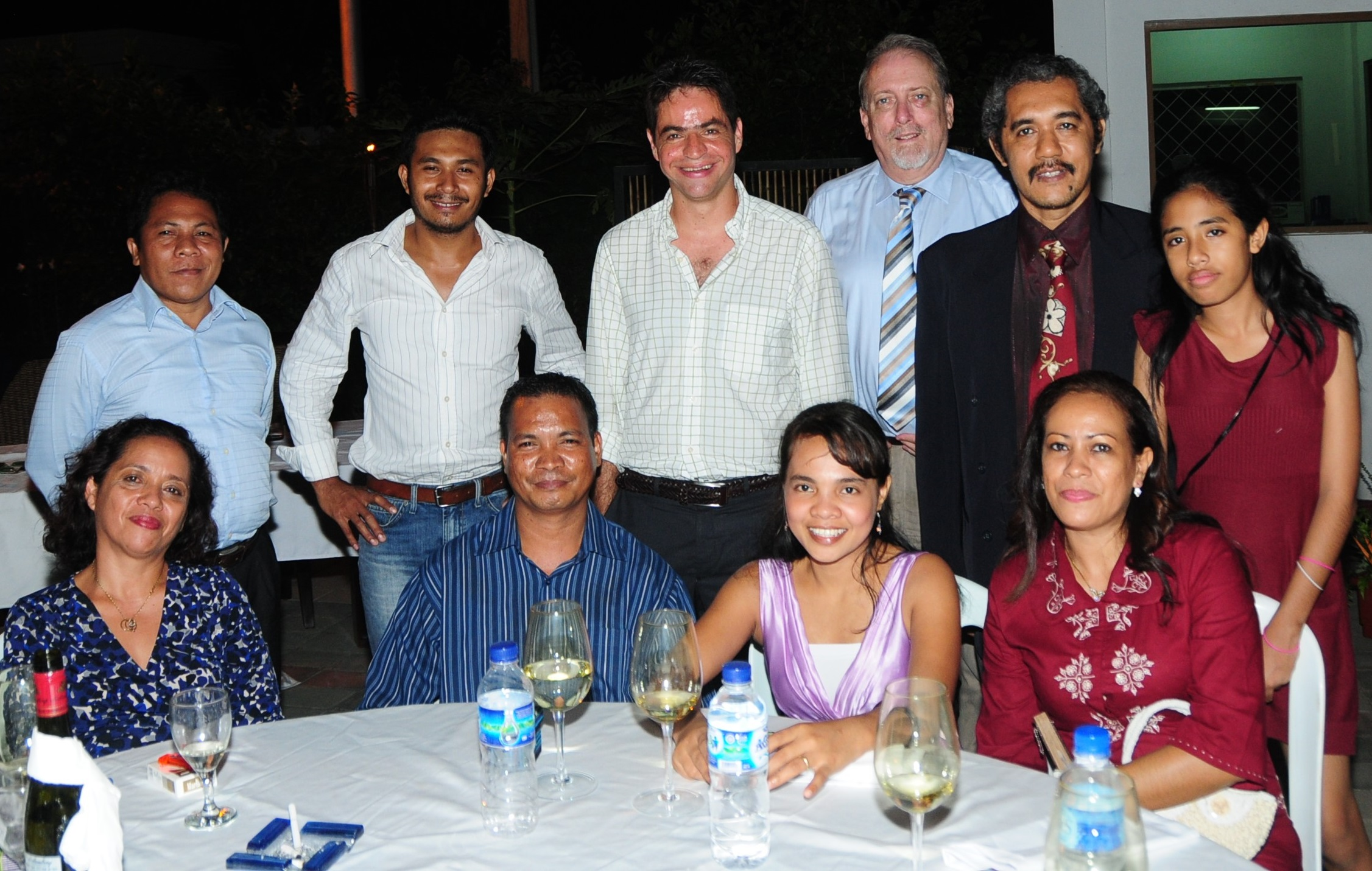 Ray Murray (third from right) at the author's wedding in Dili in 2010