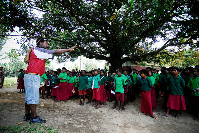 A teacher instructing secondary school students in Kimbe, West New Britain (Flickr/Asian Development Bank CC BY-NC-ND 2.0)