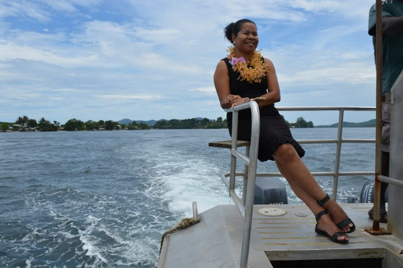 Beatrice Mahuru crossing Buka passage