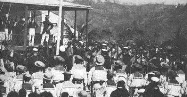 British flag raised on New Guinea, 1883