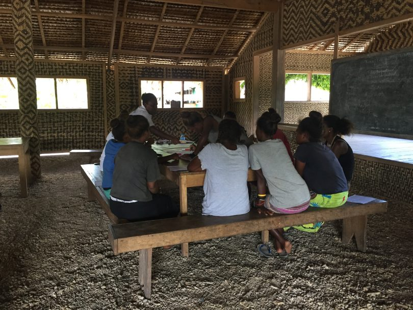 A group of women being consulted for the research project (Credit: Chelsea Huggett)
