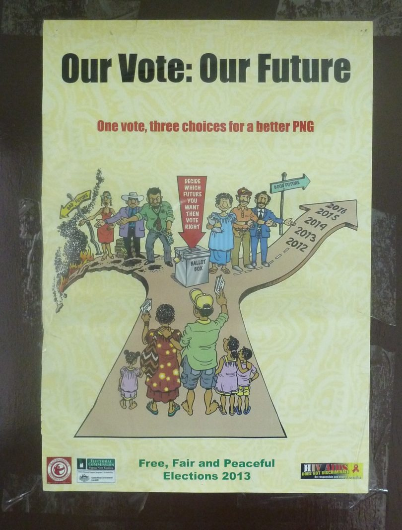 A PNG election poster (Credit: Terence Wood)