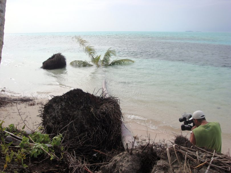 Evidence of coastal erosion, Carteret Islands, PNG (Citt/Flickr/CC BY-NC-ND 2.0)