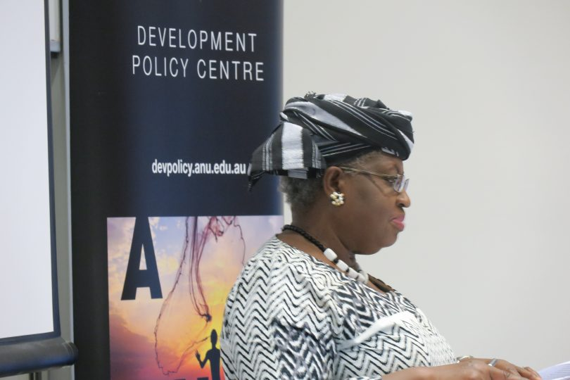 Dr Okonjo-Iweala delivering the 2017 Mitchell Oration