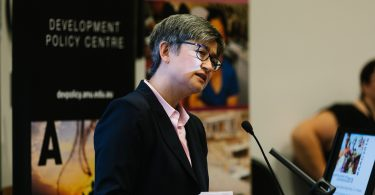 Penny Wong delivering the opening address at the 2018 Australasian Aid Conference