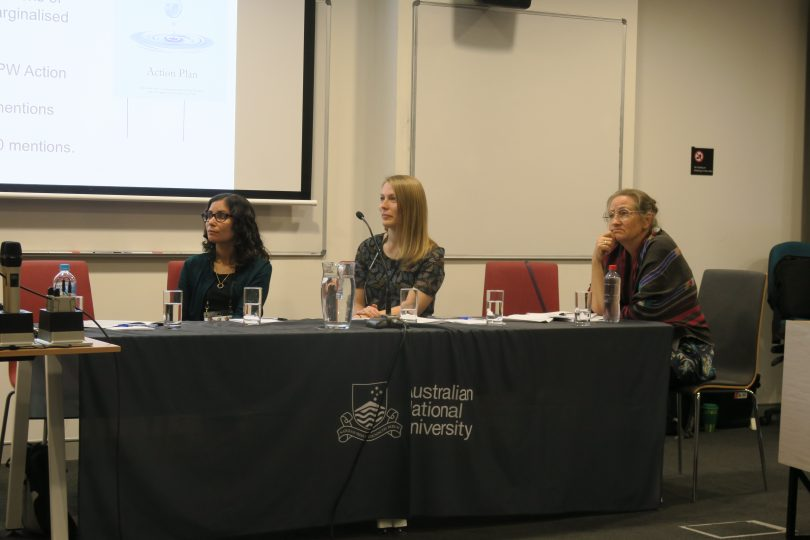 Members of the gender equity panel at the 2018 Australasian Aid Conference