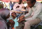 A mobile clinic during the nutrition emergency in Nigeria (EU/ECHO/Isabel Coello/Flickr/CC BY-NC-ND 2.0)