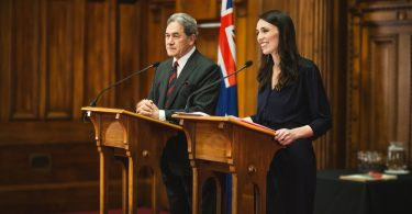 New Zealand Prime Minister Jacinda Ardern and Foreign Minister Winston Peters (Credit: New Zealand Labour Party)