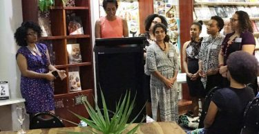 Rashmii Bell speaking at the Brisbane launch of 'My Walk to Equality' (Credit: PNG Attitude blog)