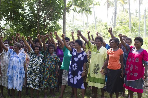Women belonging to the Women I Tok Tok Tugeta Forum at their meeting in Tanna, Vanuatu in February 2018 (Credit: ActionAid)
