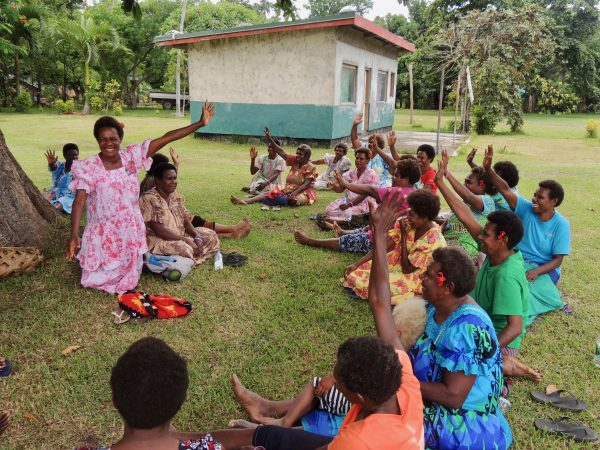 Women participating in a Women I Tok Tok Tugeta forum meeting in Tanna, Vanuatu in February 2018 (Credit: ActionAid)