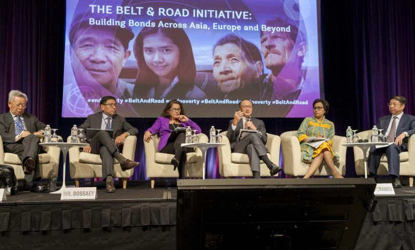 2017 World Bank/IMF Annual Meetings - panel on the Belt & Road Initiative (World Bank/Flickr/CC BY-NC-ND 2.0)