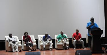 A panel organised by the Vanuatu Council of Trade Unions at the Vanuatu Labour Summit (Credit: Matthew Dornan)