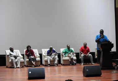 A panel organised by the Vanuatu Council of Trade Unions at the Vanuatu Labour Summit (Credit: Matthew Dornan)