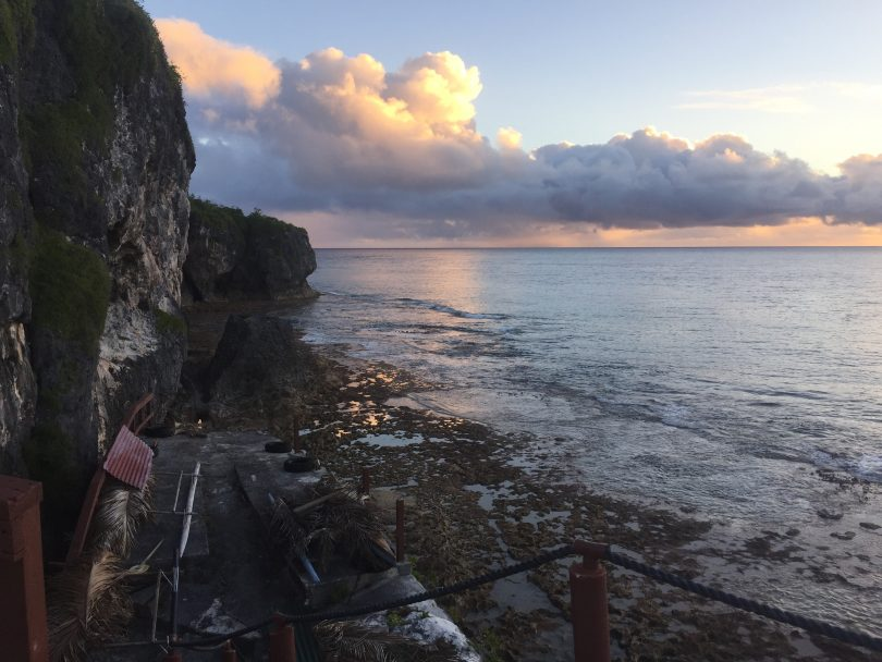 A sunset in Makefu village, Niue (Credit: Erin Thomas)