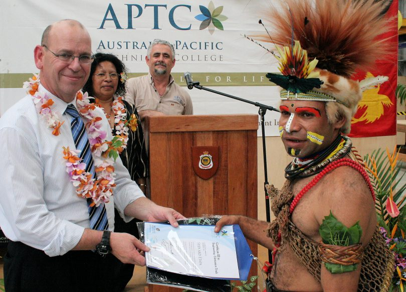 A photo from the 2010 APTC graduation (DFAT/Flickr/CC BY 2.0)