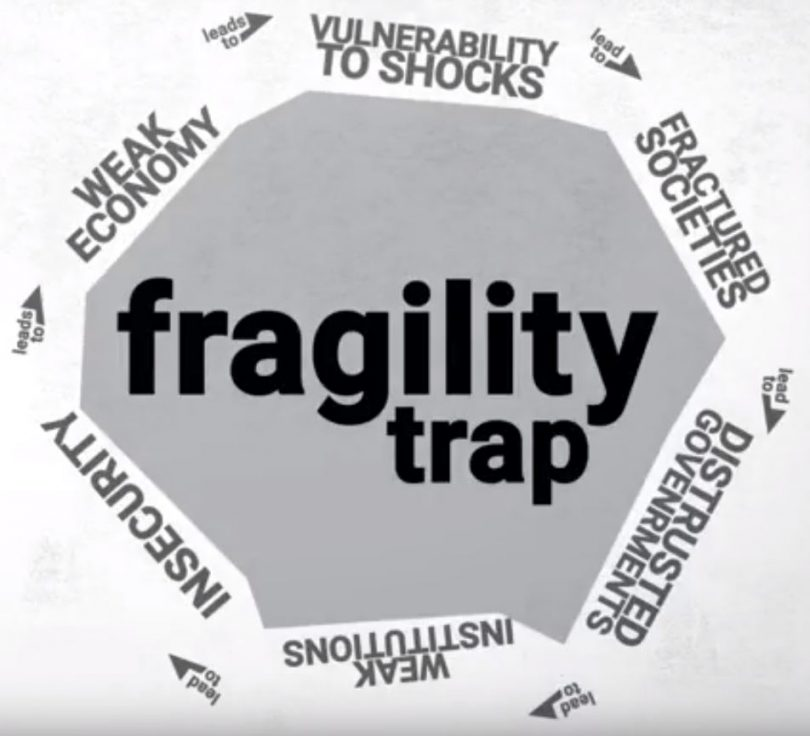 Screenshot from a video advertising the report
