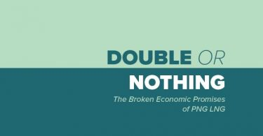 Part of the front cover of Jubilee Australia's 'Double or Nothing' report