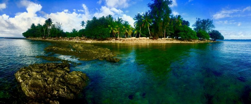 Off the coast of Majuro, Marshall Islands (Credit: Cameron Diver)