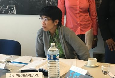 Ari at a training session (Credit: ACTION Global Health Advocacy Partnership)