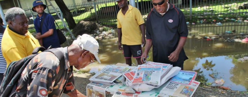 A newspaper stand in Solomon Islands (Credit: ABC Pacific Beat)