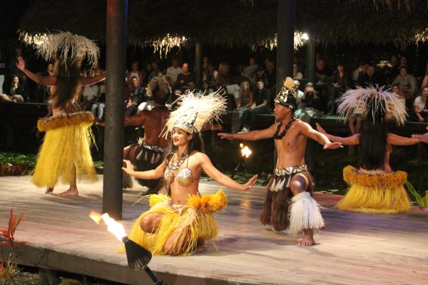 Te Vara Nui cultural show is an example of commodified culture tourists encounter in the PICs, Rarotonga, Cook Islands (Credit: Denis Tolkach)
