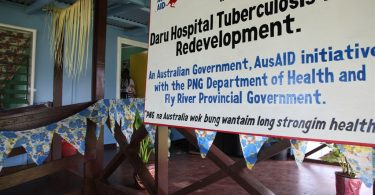Interim TB ward in Daru, PNG, constructed in 2012 (DFAT/Flickr/CC BY 2.0)