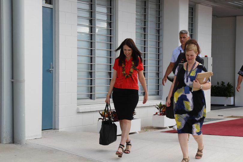 New Zealand Prime Minister Jacinda Ardern arrives at the 2018 Pacific Islands Forum meeting in Nauru (Credit: PIFS)