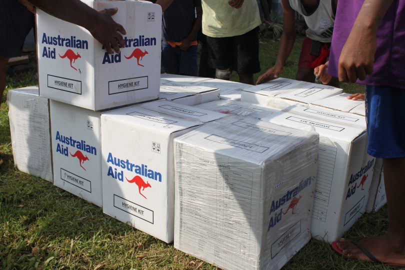 Relief supplies provided by Australian and UNICEF Pacific to communities in Tailevu, Fiji in 2016 (DFAT/Flickr/CC BY 2.0)