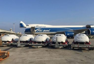 Maseratis chartered to PNG for APEC 2018 (Credit: AirBridgeCargo Airlines)