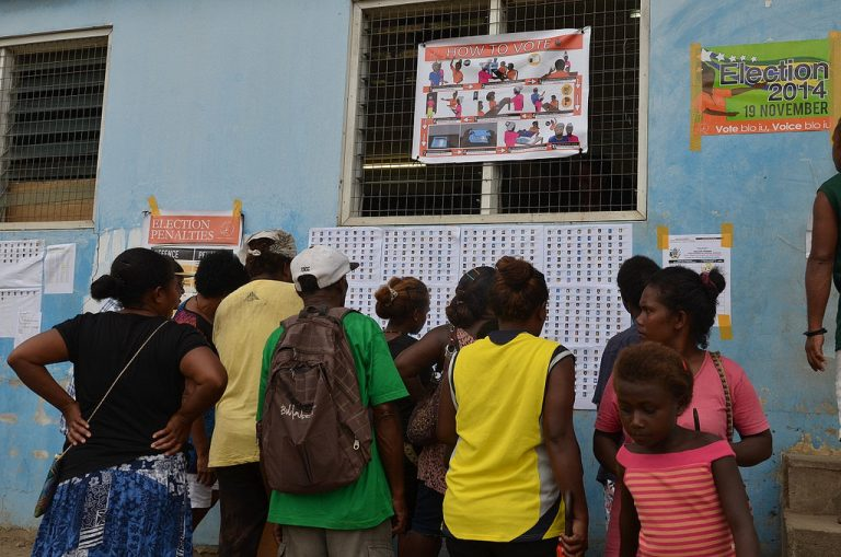 A photo from the 2014 Solomon Islands elections (Credit: ramsi_images/Flickr/CC BY 2.0)
