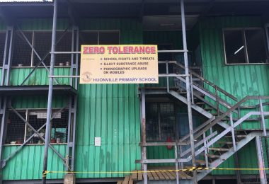A sign a Huonville Primary School in Lae (Credit: Michelle Rooney)