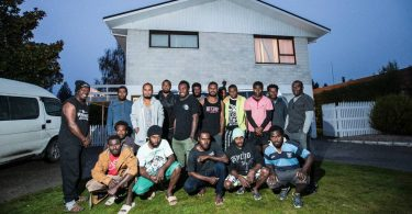 Vanuatu orchard workers on the RSE scheme share a suburban house in Motueka (Credit: Braden Fastier/stuff.co.nz)