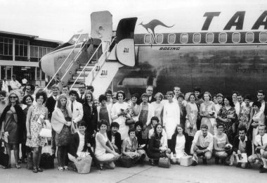 Australian volunteers in Sydney in 1968, prior to leaving for PNG (Credit: AVI)