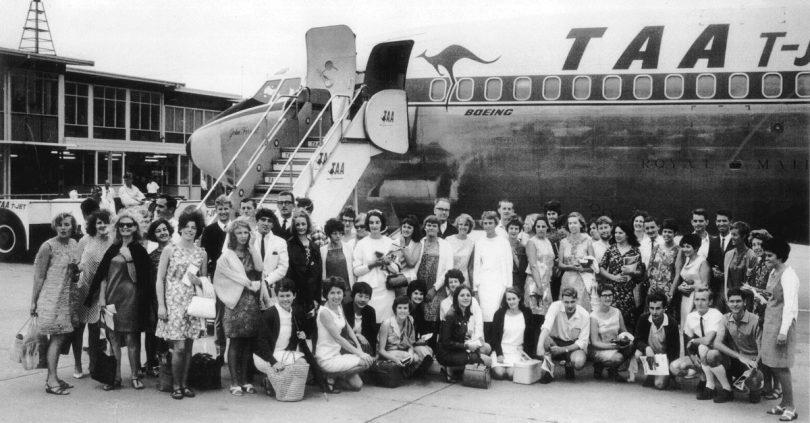 Australian volunteers in Sydney in 1968, prior to leaving for PNG (Credit: AVI)