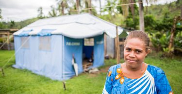 CARE assisted Laisa and her family as part of the response to TC Winston in Fiji (Credit: John Hewat/CARE)